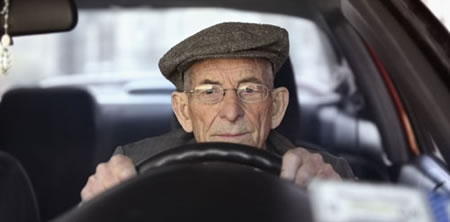 Senior Citizens Prone to Falling Are More Likely to Experience a Car Crash